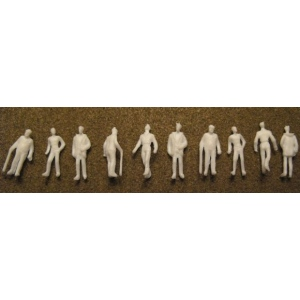 "Wee Scapes™ Architectural Model Human Figures Male 1/8"" 10-Pack: White/Ivory, 10-Pack, 1/8"", People"