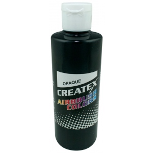 Createx™ Airbrush Paint 4oz Opaque Black: Black/Gray, Bottle, 4 oz, Airbrush, (model 5211-04), price per each