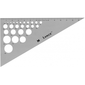"Lance® 14"" Aluminum Triangle 30/60: 30/60, Clear, Aluminum, 14"", Triangle, (model TR3060-14), price per each"