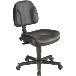 "Alvin® Black Leather Premo Office Height Ergonomic Chair: No, Black/Gray, No, Under 24"", Leather, (model CH444-90), price per each"