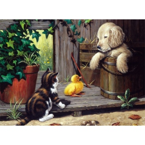 "Royal & Langnickel® Painting by Numbers™ 11 1/4 x 15 3/8 Junior Large Set Three Buddies: 11 1/4"" x 15 3/8"""
