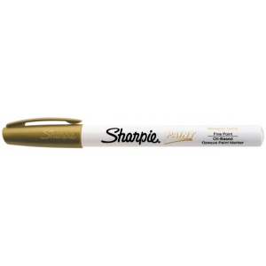 Sharpie® Oil Paint Marker Fine Gold: Metallic, Paint, Fine Nib, (model SN35544), price per each
