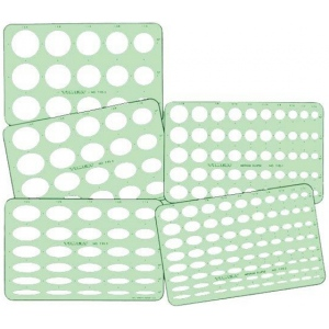 "Timely® Ellipse Templates: 5-Pack, 7/16"" - 1 3/4"", (model 95TA), price per set"