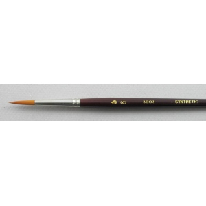 Trinity Brush Synthetic Hair 3003: Round Size 6 Brush