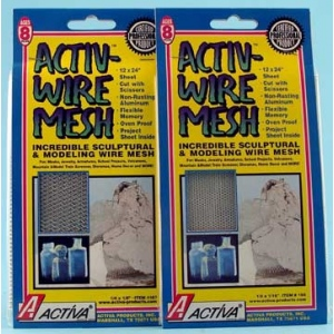 "12"" X 24"" Large Aluminum Wire Mesh with 1/4"" X 1/8"" Mesh, Pack of 6"