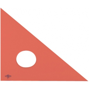 "Alvin® 4"" Fluorescent Professional Acrylic Triangle 45°/90°: 45/90, Orange, Acrylic, 4"", Triangle"