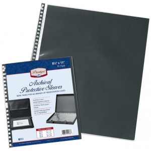 "Prestige™ Archival Protective Sleeve 17"" x 22"": Black/Gray, Polypropylene, 17"" x 22"", (model RF22), price per pack"