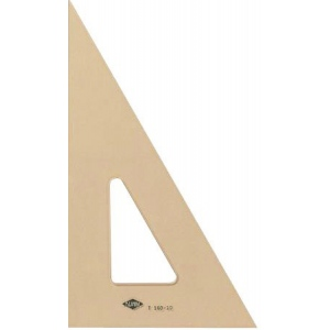 "Alvin® 12"" Professional Topaz Tint Triangle 30°/60°: 30/60, Brown, Acrylic, 12"", Triangle"