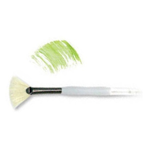 Royal & Langnickel® Soft Grip™ Stiff Hog Bristle Fan Brush 2: Stiff Hog Bristle, Fan, 2, Acrylic, Oil, Watercolor, (model RSG825-2), price per each