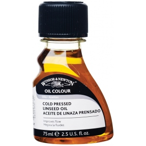 Winsor & Newton™ Cold-Pressed Linseed Oil 75ml: 75 ml, Linseed Oil, (model 3221747), price per each