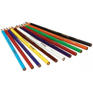 Crayola® Long Colored Pencil 12-Color Set: Multi, Pencil, (model 68-4012), price per each