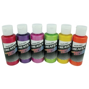 Createx™ Airbrush Pearlized 6-Color Set: Multi, Bottle, 2 oz, Airbrush