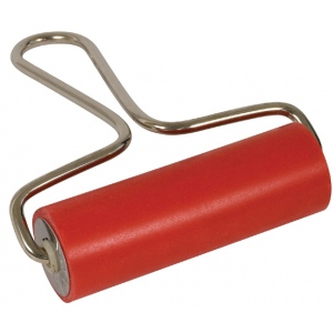 "Heritage Arts™ Economy 4"" Soft Rubber Brayer: Red/Pink, 1 1/4"", Rubber, Soft Rubber, 4"", (model SRB-4), price per each"