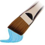 "Winsor & Newton™ Cotman™ Series 667 Angle Short Handle Brush 1/2"": Short Handle, Synthetic, Angular, Watercolor, (model WN5367113), price per each"