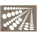 "Pickett® Combination Ellipse Master Template: 1/8"" - 1 3/4"", (model 1269I), price per each"