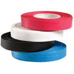 "Generic Reinforced Edge-Binding Black Tape: Black/Gray, PVC, 1/2"" x 80', Binding, 1/2"", (model 121BK), price per box"