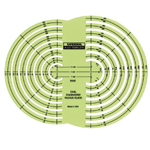 "Rapidesign® Civil Engineer Radius Guide Template: 1"" = 100', 1"" = 50, 1""= 20', (model 127R), price per each"