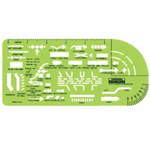 "Rapidesign® Traffic Accident Template: 4 1/2"" x 10"" x .030"", General Purpose, (model 131R), price per each"