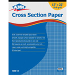 "Alvin® Cross Section Paper 8"" x 8"" Grid 50-Sheet Pad 17"" x 22"": Pad, 8"" x 8"", 50 Sheets, 17"" x 22"", Drawing, 20 lb, (model 1422-14), price per 50 Sheets pad"
