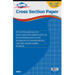 "Alvin® Cross Section Paper 4"" x 4"" Grid 50-Sheet Pad 11"" x 17"": Pad, 4"" x 4"", 50 Sheets, 11"" x 17"", Drawing, 20 lb, (model 1422-7), price per 50 Sheets pad"