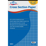 "Alvin® Cross Section Paper 8"" x 8"" Grid 50-Sheet Pad 11"" x 17"": Pad, 8"" x 8"", 50 Sheets, 11"" x 17"", Drawing, 20 lb, (model 1422-9), price per 50 Sheets pad"