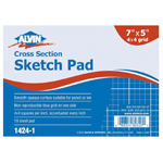 "Alvin® Cross Section Sketch Pad 7"" x 5"": Pad, 4"" x 4"", 10 Sheets, 5"" x 7"", (model 1424-1), price per 10 Sheets pad"