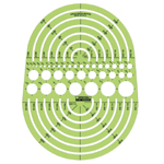 "Rapidesign® Circle Radius Master Template: 3/64"" - 7 1/2"", (model 142R), price per each"