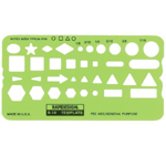 "Rapidesign® Pee-Wee General Purpose Template: 1/8"" - 7/16"", (model 14R), price per each"