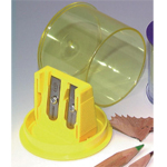 Kum® Color-Combi Sharpeners: Assorted, Two, Plastic, 24-Box, Manual, (model 217KM), price per 24-Box box