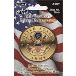 "Pioneer® Self-Adhesive Metal Military Medallion Army: Multi, 2"", Dimensional, (model 2M-A), price per each"