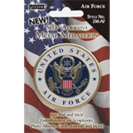 "Pioneer® Self-Adhesive Metal Military Medallion Air Force: Multi, 2"", Dimensional, (model 2M-AF), price per each"