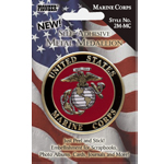"Pioneer® Self-Adhesive Metal Military Medallion Marine Corps: Multi, 2"", Dimensional, (model 2M-MC), price per each"