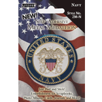 "Pioneer® Self-Adhesive Metal Military Medallion Navy : Multi, 2"", Dimensional"