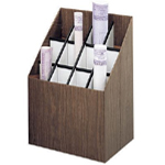 "Safco® Upright Roll File 12 Slots: 12 Slots, Brown, Fiberboard, 12""d x 15""w x 12"" - 22""h"