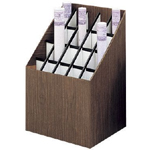 "Safco® Upright Roll File 20 Slots: 20 Slots, Brown, Fiberboard, 12""d x 15""w x 12"" - 22""h, (model 3081F), price per each"