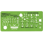 "Rapidesign® Electrical Controls Template: 3 1/4"" x 8"" x .030"", Electric/Electronic, (model 312R), price per each"