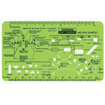 "Rapidesign® Welding Template: 3 5/16"" x 4 1/16"" x .060"", Mechanical, (model 34R), price per each"