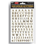 "Pioneer® Letter Stickers Gold: Metallic, 1/4"" - 3/8"", Flat, (model 3DLG), price per pack"