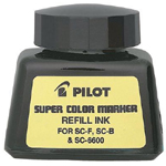 Pilot®  Super Color Black Refill Ink: Black/Gray, Refill, (model 43500), price per each