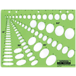 "Rapidesign® Combination Ellipse Master Template: 1/8"" - 1 1/2"", 1/8"" - 1 3/4"", 1/8"" - 1 5/8"", 3/16"" - 1 5/8"", (model 479R), price per each"