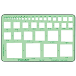 "Timely® Squares Template: 1/16"" - 2"", (model 47T), price per each"