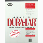 "Grafix® Dura-lar™ 9"" x 12"" Wet Media Film: Pad, 12 Sheets, 9"" x 12"", .004"", Wet Media, (model 4DW0912), price per 12 Sheets pad"