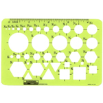 "Rapidesign® Pocket Pal Template: 1/32"" - 1"", (model 50R), price per each"