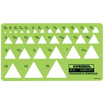"Rapidesign® Triangle & Diamonds Template: 3/32"" - 1 3/8"", (model 51R), price per each"