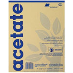 "Grafix® 9"" x 12"" Biodegradable Clear Acetate: Clear, Pad, 25 Sheets, 9"" x 12"", .005"""