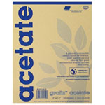 "Grafix® 11"" x 14"" Biodegradable Clear Acetate: Clear, Pad, 25 Sheets, 11"" x 14"", .005"""