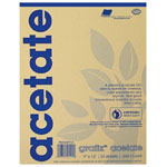 "Grafix® 14"" x 17"" Biodegradable Clear Acetate: Clear, Pad, 25 Sheets, 14"" x 17"", .005"""