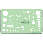 "Timely® Circuit Aid Template: 4 1/2"" x 7 3/4"" x .020"", Mechanical, (model 61T), price per each"