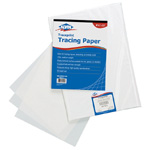 "Alvin® Traceprint Tracing Paper 100-Sheet Pad 8-1/2"" x 11"": Fold Over, White/Ivory, Pad, 100 Sheets, 8 1/2"" x 11"", Tracing, 17 lb"