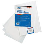 "Alvin® Traceprint Tracing Paper 50-Sheet Pad 8-1/2"" x 11"": Fold Over, White/Ivory, Pad, 50 Sheets, 8 1/2"" x 11"", Tracing, 17 lb, (model 6811P-1), price per 50 Sheets pad"